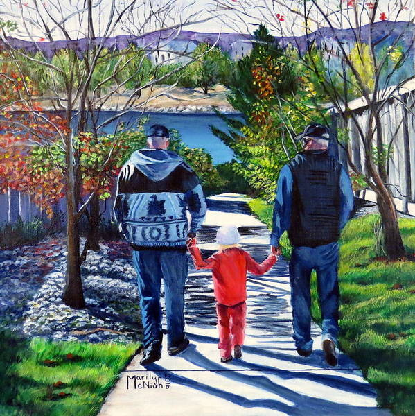 Painting - Anna's Grandpa's 2 by Marilyn McNish