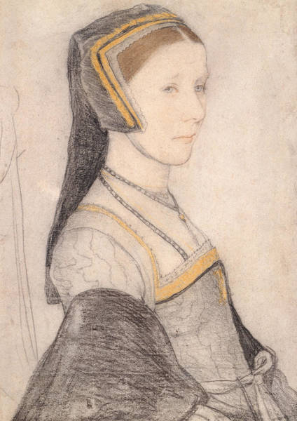 16th Century Wall Art - Drawing - Anne Cresacre by Hans Holbein the Younger