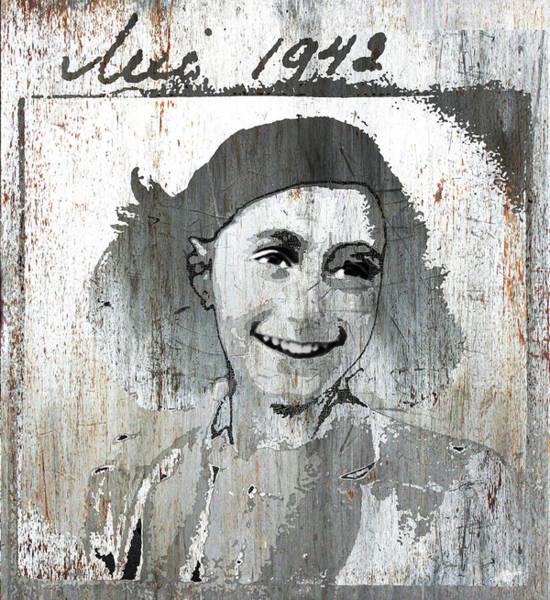 Mixed Media - Anne Frank 2 by Tony Rubino