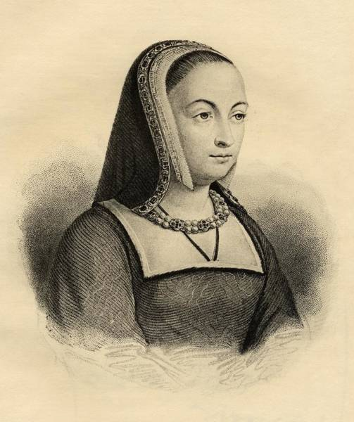 Wall Art - Drawing - Anne Of Brittany, 1477-1514. Queen Of by Vintage Design Pics