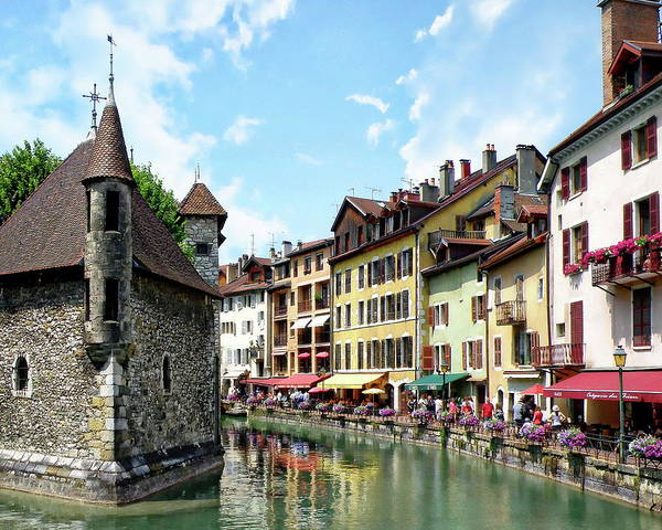 Photograph - Annecy Town View by Anthony Dezenzio