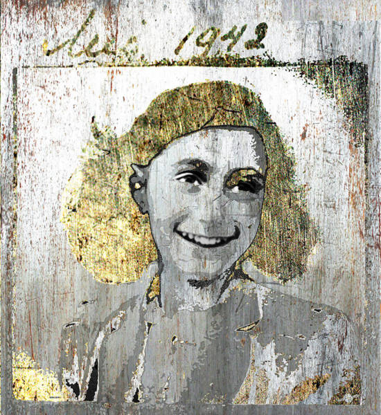 Wall Art - Mixed Media - Anne Frank by Tony Rubino