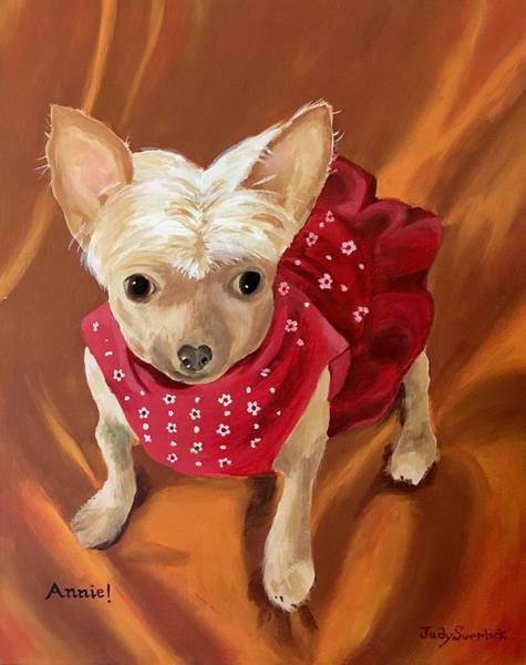 Wall Art - Painting - Annie by Judy Swerlick