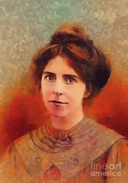 Equal Rights Wall Art - Painting - Annie Kenney, Suffragette by Mary Bassett
