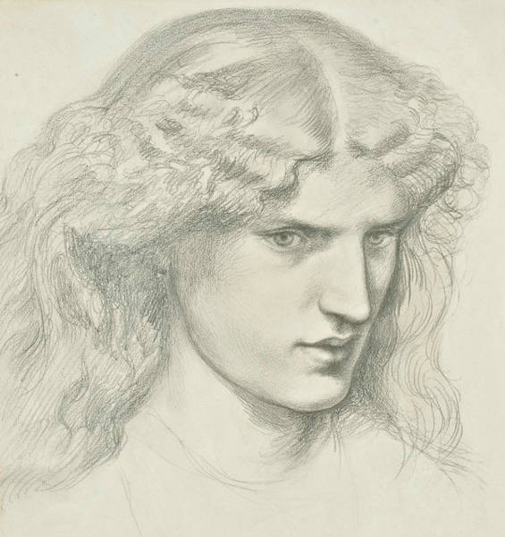 Drawing - Annie Miller by Dante Gabriel Rossetti