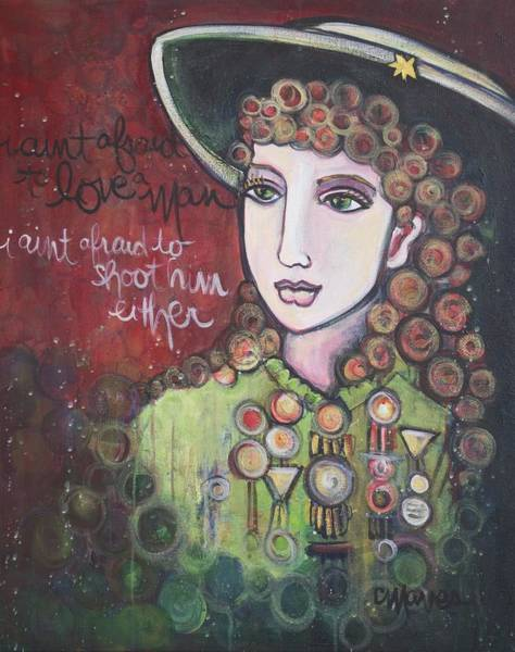 Painting - Annie Oakley Aint Afraid by Laurie Maves ART