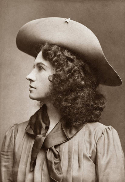 Shooters Wall Art - Photograph - Annie Oakley - Little Sure Shot by War Is Hell Store