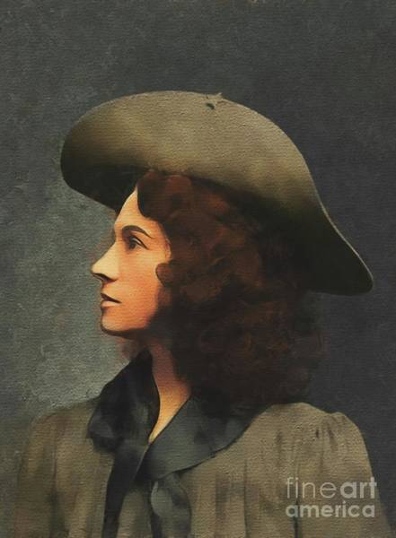 Wall Art - Painting - Annie Oakley, Old West by Mary Bassett