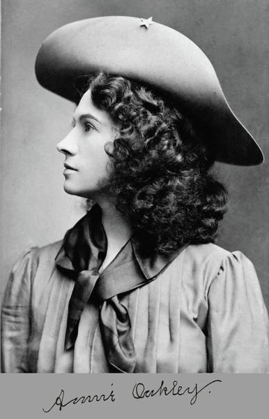 Photograph - Annie Oakley Profile by John Feiser
