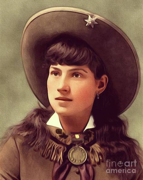 Wall Art - Painting - Annie Oakley, Sharpshooter by John Springfield