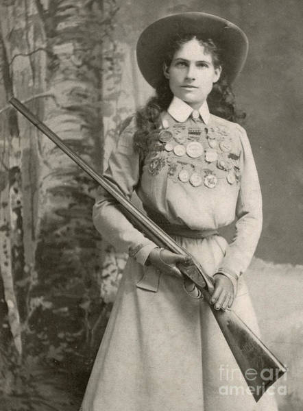 Wall Art - Photograph - Annie Oakley With A Rifle, 1899 by Richard Kyle Fox