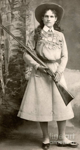 Wall Art - Photograph - Annie Oakley With A Rifle by Richard Kyle Fox