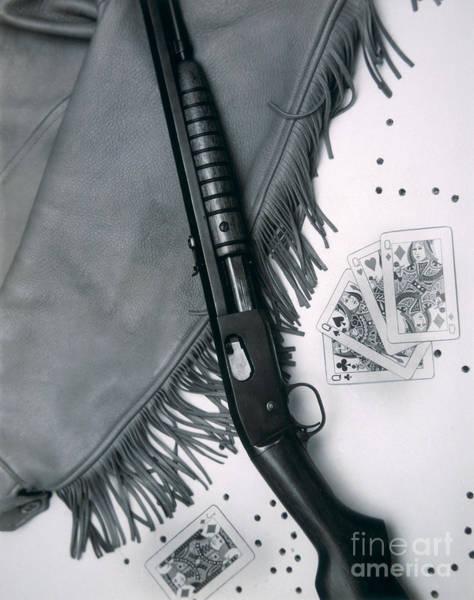Remington Photograph - Annie Oakley's Remington Rifle by American School