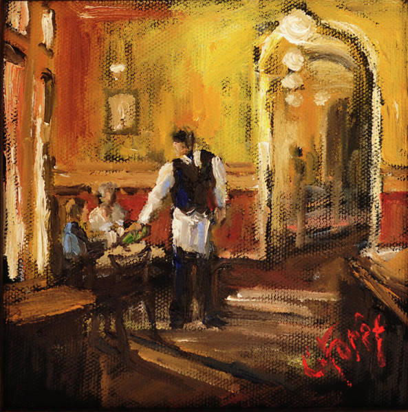 Wall Art - Painting - Anniversary At Highlands Bar And Grill by Carole Foret