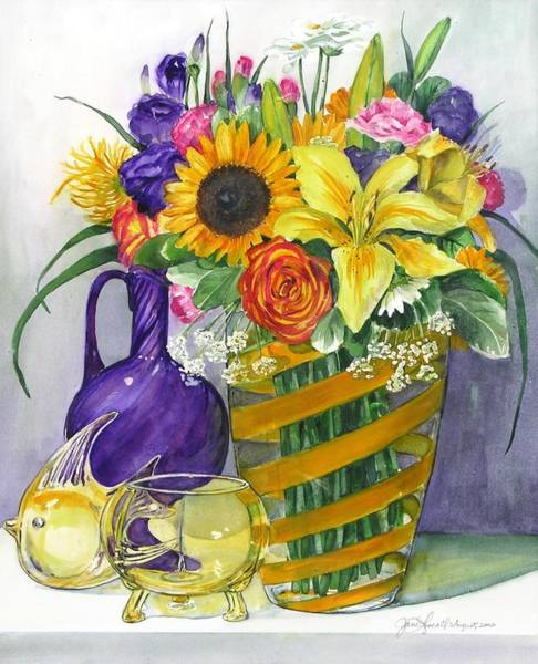 Painting - Anniversary Bouquet by Jane Loveall