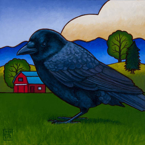 Wall Art - Painting - Anns Crow by Stacey Neumiller