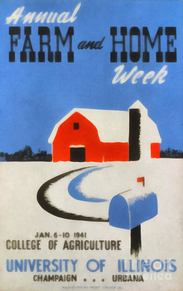 Campaign Painting - Annual Farm And Home Week Vintage Poster by Edward Fielding