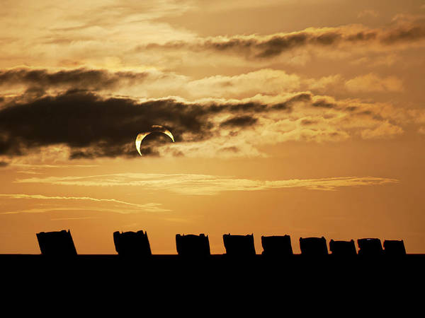 Annular Eclipse Over Cadillac Ranch Art Print