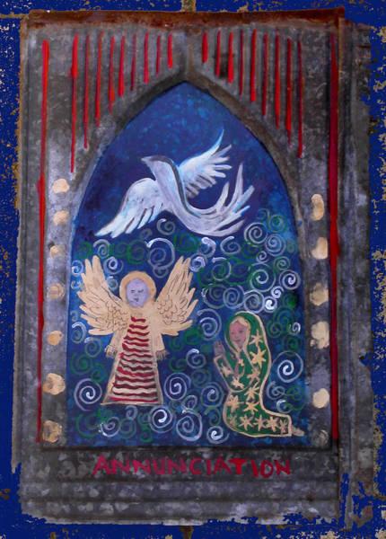 Painting - Annunciation Folk Art by Anne Cameron Cutri