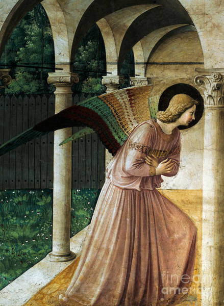 Wall Art - Painting - Annunciation by Fra Angelico