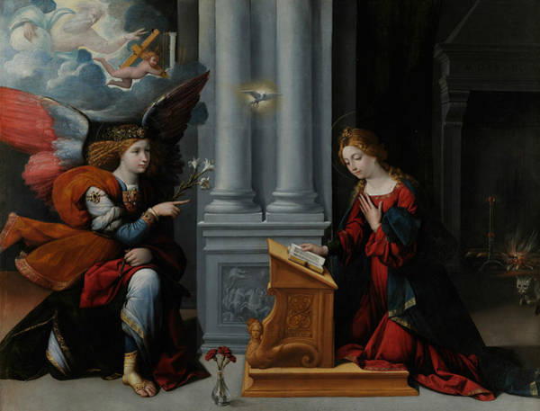 Wall Art - Painting - Annunciation by Garofalo