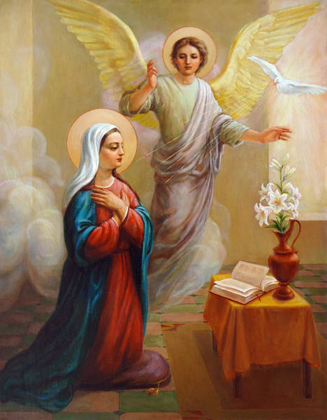 Wall Art - Painting - Annunciation To The Blessed Virgin Mary by Svitozar Nenyuk