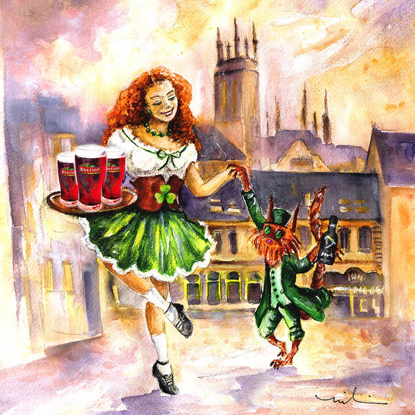 Irish Dance Painting - Anny Kilkenny by Miki De Goodaboom