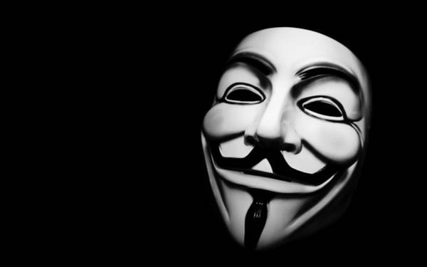 Wall Art - Digital Art - Anonymous V For Vendetta Mask by Mery Moon