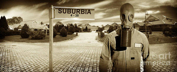 Gasmask Photograph - Another Day In Suburbia by Jorgo Photography - Wall Art Gallery