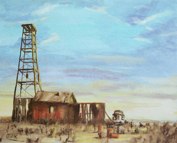 Oil Well Painting - Another Duster by Christopher Jenkins