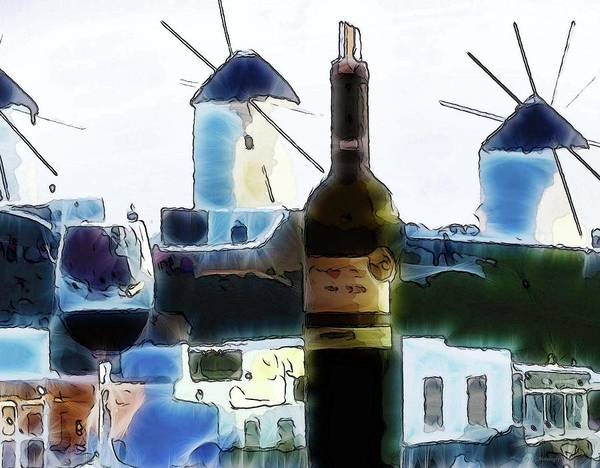 Photograph - Another Glass Of Wine At Mykonos by Coleman Mattingly