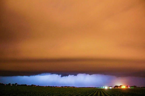 Photograph - Another Impressive Nebraska Night Thunderstorm 002 by NebraskaSC