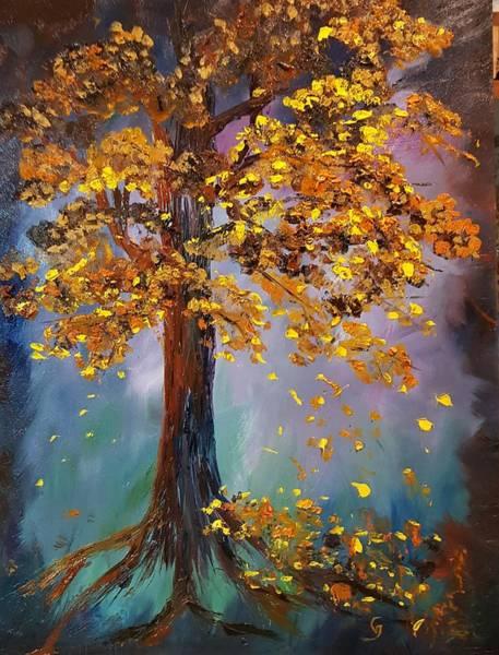 Painting - Another Lone Tree         62 by Cheryl Nancy Ann Gordon