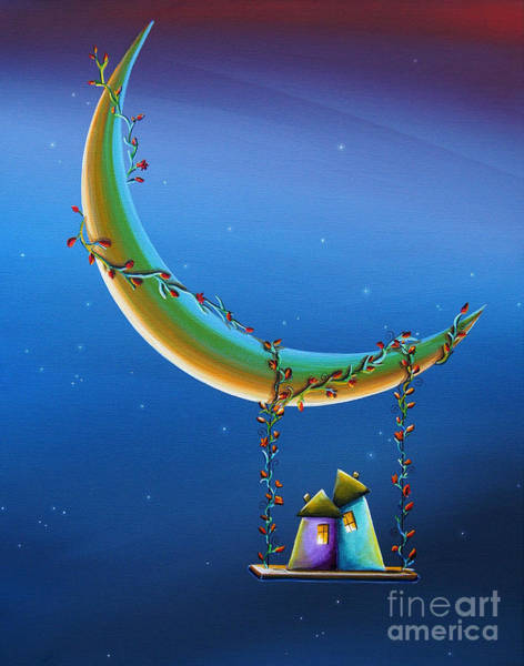Wall Art - Painting - Another Moonlight Serenade by Cindy Thornton