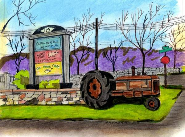 Old Tractor Drawing - Another Old Tractor by Paul Meinerth