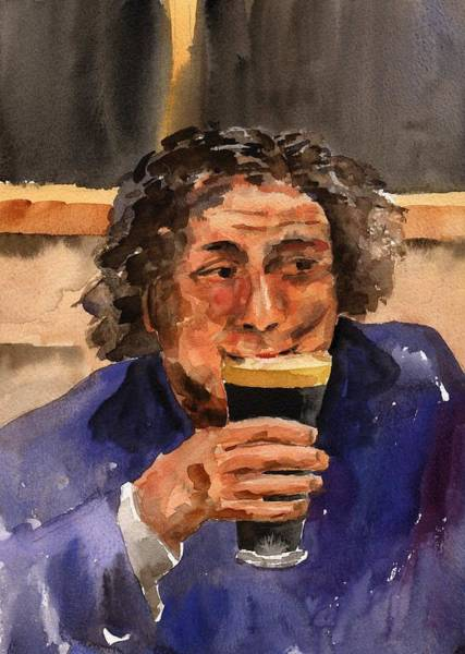 Painting - A Pint Please... Next Time. by Val Byrne