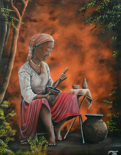 Painting - Another Place by Wilson Simwa - Kenya