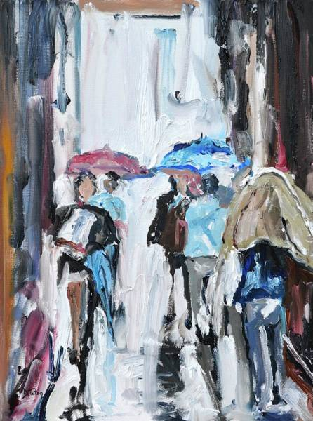 Painting - Another Rainy Day Oil Painting by Donna Tuten