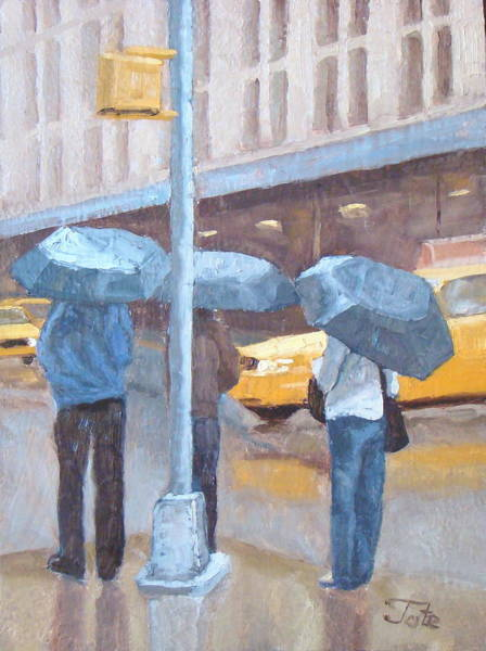 Wall Art - Painting - Another Rainy Day by Tate Hamilton