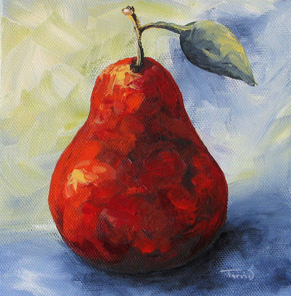 Another Red Pear Art Print