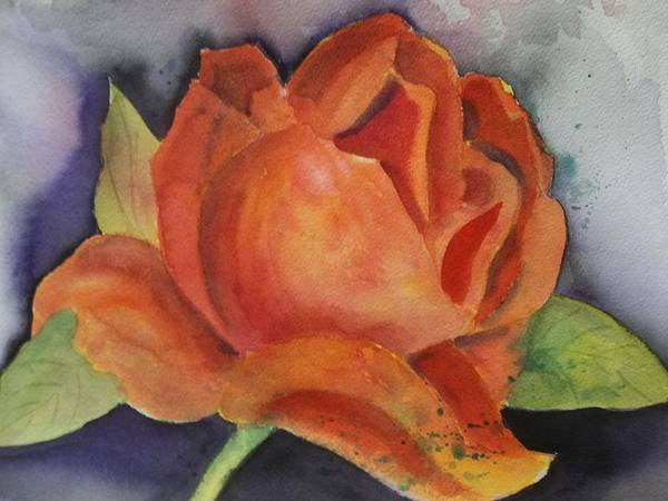 Painting - Another Rose by Audrey Bunchkowski
