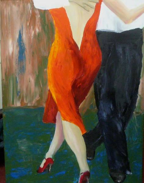 Painting - Another Tango Twirl by Keith Thue