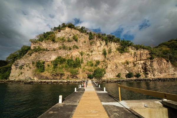 Photograph - Ans Chastanet Pier Hillside Saint Lucia by Toby McGuire