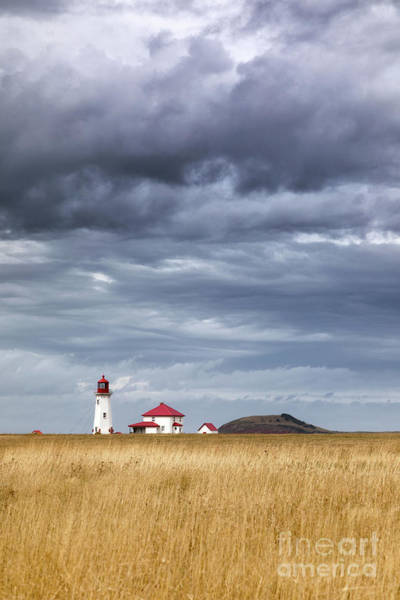 Wall Art - Photograph - Anse A La Cabane Lighthouse On The Magdalen Islands by Jane Rix