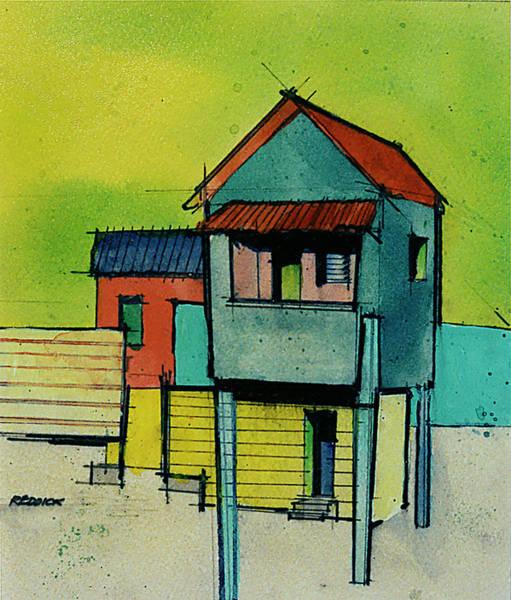Saint Lucia Painting - Anse La Raye - Saint Lucia 3 by Gary Reddick