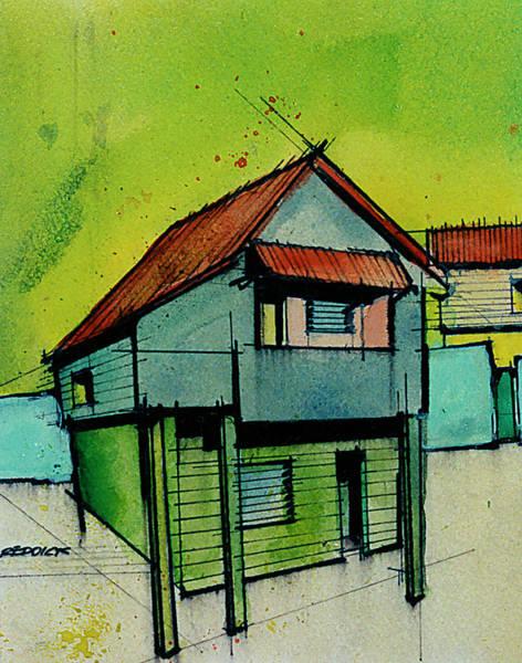 Saint Lucia Painting - Anse La Raye - Saint Lucia 4 by Gary Reddick