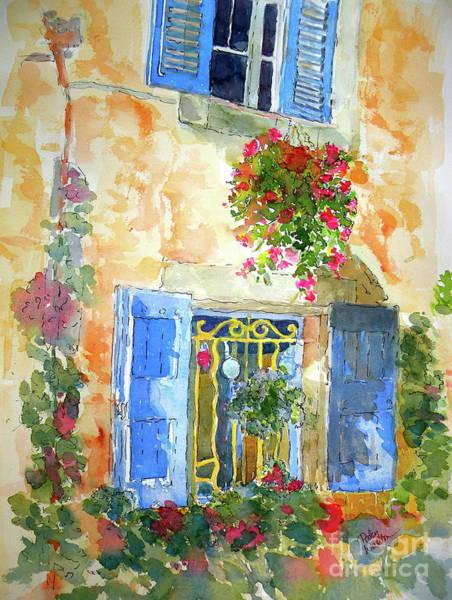 Ansouis Windowbox Art Print