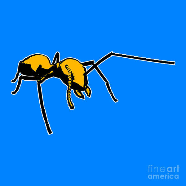 Stencil Painting - Ant Graphic  by Pixel  Chimp