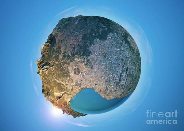 Little Planet Digital Art - Antalya 3d Little Planet 360-degree Sphere Panorama by Frank Ramspott
