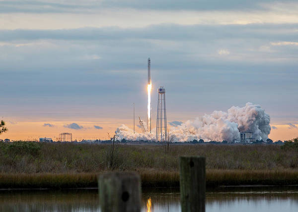 Photograph - Antares Launch From Wallops Island by M C Hood